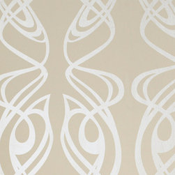 Graham and Brown - Barbara Hulanicki Wallpaper - Diva Pattern - in Oyster, Swatch - Designed by Graham and Brown.