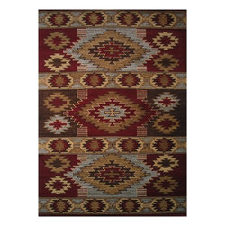 LA Rugs - Southwestern/Lodge Inspiration 2'x4' Rectangle Multi Color Area Rug - The Inspiration area rug Collection offers an affordable assortment of Southwestern/Lodge stylings. Inspiration features a blend of natural Multi Color color. Machine Made of 100% Polypropylene the Inspiration Collection is an intriguing compliment to any decor.