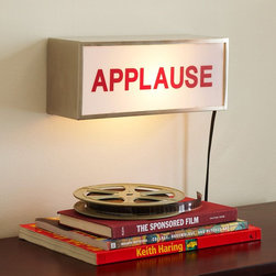 Applause Light Box - Houzz Team Member Lily has chosen this unexpected APPLAUSE light box sign for you child's room. Perhaps it will inspire him or her to become the next Johnny Carson!