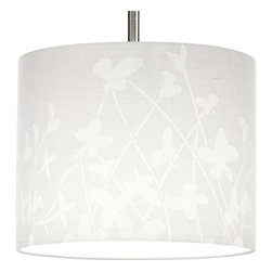 Progress Lighting - Progress Lighting P8765-01 Chloe Pendant Light In White Floral Pattern -