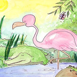 Oh How Cute Kids by Serena Bowman - Swamp Livin, Ready To Hang Canvas Kid's Wall Decor, 8 X 10 - Each kid is unique in his/her own way, so why shouldn't their wall decor be as well! With our extensive selection of canvas wall art for kids, from princesses to spaceships, from cowboys to traveling girls, we'll help you find that perfect piece for your special one.  Or you can fill the entire room with our imaginative art; every canvas is part of a coordinated series, an easy way to provide a complete and unified look for any room.