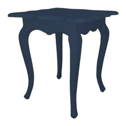 EuroLux Home - New Accent Table Blue Painted Hardwood - Product Details