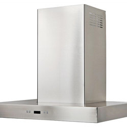 Cavaliere - Cavaliere Islande Mount Hood - Island Mounted Range Hood with 6 Speeds, Timer Function, LCD Keypad, Grease Filters, and Halogen Lights