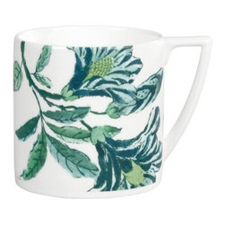 Wedgwood Jasper Conran Chinoiserie Bone China Mini Mug - White - Set of 4 - Ideal for espresso or other good drinks that come in small packages, the Wedgwood Jasper Conran Chinoiserie Bone China Mini Mug - White - Set of 4 evokes the mystery and exotic charm of the Far East. Birds and delicate florals adorn this piece, rendered in a detailed illustration style in rich blues and greens. A contemporary shape heightens the appeal for modern-minded devotees of the Wedgwood tradition. These little mugs are dishwasher safe.British designer Jasper Conran has joined Wedgwood to create a collection combining classic British elegance with his unique design aesthetic. This collection includes fine bone china and serveware, drinkware, home decor, and gifts. Each item in the Jasper Conran collection is a unique work of art by this famed designer.About WedgwoodThrough highly skilled craftsmanship and the highest quality standards, Wedgwood manufactures quality ceramics with sophisticated, classical, and contemporary design. With a tradition of innovation, quality, and craftsmanship, Wedgwood designs are widely acknowledged as timeless, elegant, classic, and understated. Their design teams work with external designers for cross-pollination of ideas and experience. Founded in 1759 by Josiah Wedgwood, Wedgwood has been an international company determined to uphold their standards in order to maintain their leadership in the world's markets. Though their roots are over two centuries old, the company strives to stay current through partnerships with fashion designers Jasper Conran and Vera Wang with whom they've developed contemporary and stylish ranges that appeal to the younger consumers.