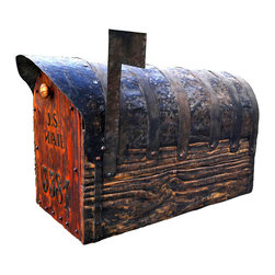 Bezaleel Orthodox Workshop - Rustic Mailbox With Cedar Door - Mailbox with cedar door. Was made large size.