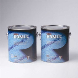 RAMUC Pool Paint - Type EP HiBuild Epoxy Swimming Pool Paint - Black (2 Gallon) - High Build Epoxy swimming pool paint. Builds up to 8mil in two coats. Black 2 part epoxy 2 gallon kit. Coverage Rate 150-250 sq/ft per KIT bare surface. 250-300 sq/ft per KIT on recoat and second coats. Self-Priming. Great for Spas, Slides and Diving Boards.