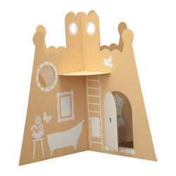 "flatoutfrankie - Princess Castle - Remember when toys were interactive and required imagination? When ""play"" meant something other than a video game? Bring those days back with this precious castle. It folds flat, stores and travels well and always inspires."