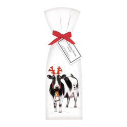 Holiday Cow Towel, Set of 2
