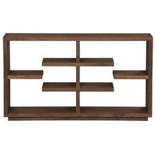"Elevate Walnut 32"" Bookcase in Bookcases, Cabinets | Crate&Barrel"