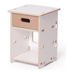 Quark Enterprises - Kids Nightstand, White - This nightstand would surely stand the test of time with a growing child. It's the perfect size for holding a lamp, a few special keepsakes and a revolving stack of bedtime stories.