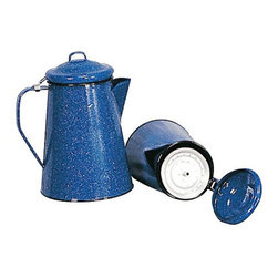 Stansport Enamel Coffee Pot - A classic enamelware coffee pot makes a good brew indoors or out.