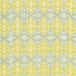 Schumacher - Varanasi Cotton Ikat Fabric, Glass - 2 YARD MINIMUM ORDER