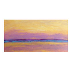 "Marcia Crumley Art - Landscape Painting, ""The Slumbering Sea"" - 12"" x 24"" landscape"