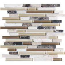 Java Mixed Material Mosaic Wall Tile (Common: 12-in x 14-in; Actual: 11.87-in x