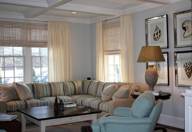 Traditional Living Room by Robin Pelissier Interior Design & Robin's Nest