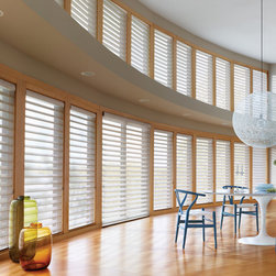 Silhouette® Quartette® window shadings with UltraGlide® - Hunter Douglas Silhouette® Collection Copyright © 2001-2012 Hunter Douglas, Inc. All rights reserved.