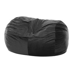 OneUp Innovations, Inc - Jaxx Club Lounger (6 Ft) Foam Beanbag, Velvish Black - Kick back & relax in the Jaxx Club Lounger. This modern, foam filled beanbag adds casual, comfortable seating to your decor. The multifunctional shape can be used as a chair, a lounger or a love seat replacement. The shredded high-density foam filling provides cushiony support in any position. The Jaxx Club Lounger molds to your every move, whether you are watching TV, browsing the internet or reading your favorite book. Seats one or two adults comfortably; three gets cozy. Available in several designer fabrics and colors to blend in both modern and casual settings. Great for apartments, lofts and dorms! Approximately 6 ft x 3 ft x 3ft in size. Weighs around 70 pounds. Made with 100% recycled/shredded furniture grade urethane foam filling. Covers zip-off for machine washing. Shipped compressed under vacuum to save on freight. Some assembly required. Please follow included instructions or view the assembly video online. All of the fabrics used for Jaxx products are designed to hold up to normal wear and tear for furniture. Microsuede is a durable, entry level fabric. It is lightweight, has virtually no fiber depth, and feels smooth to the touch. Microsuede is machine washable (tumble dry low). Velvish is our mid-range fabric. The Velvish is a denser, higher fiber compared to Microsuede. This results in a noticably softer feel. Pebble is our premium fabric featuring a more dense and slightly higher fiber than Microsuede, but not as high as Velvish. What sets the Pebble fabric apart from the others is the miniature cobblestone patterned texture cut into the fabric which adds visual flare to the fabric. All three fabrics are machin washable on cold setting and can be tumbled dried on low heat.