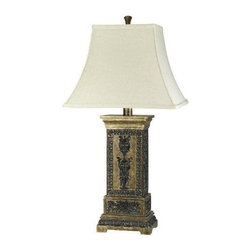 CAL Lighting - Marion 3-Way Table Lamp with Rectangular Bell Fabric Shade - 150W 3 Way Marion Table Lamp