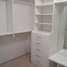 Contemporary Closet by crazy closets
