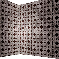 LOLLIPROPS, INC., LPI - Diamond Removable Wallpaper, Chocolate - The diamond pattern in this peel-and-stick temporary wallpaper is perfect for a sophisticated office or den. Since it's a self-adhesive wallpaper, you can use it worry-free in a rental and completely transform your space. When you're ready to move, simply peel off the paper to reveal your unharmed painted wall.
