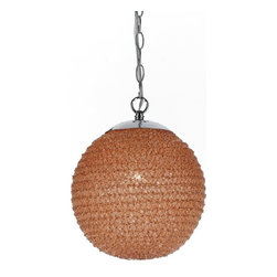 AF Lighting - Stylish & Modern Ball Pendant in Vibrant Orange by Angelo: Home, Vibrant Orange - The Angelo Chloe ball pendant in vibrant orange is made in recycled plastic that is hand-crafted in four different colors. This Ball Pendant Brings a modern element into a decor with a fashion color. Due to handcrafting no two ball pendants are alike.