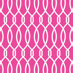 Murals Your Way - Trellis - Hot Pink Wall Art - Painted by Clairebella, Trellis - Hot Pink wall mural from Murals Your Way will add a distinctive touch to any room