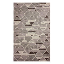 nuLOOM - Contemporary 5' x 8' Grey Hand Hooked Area Rug Persian Trellis - Made from the finest materials in the world and with the uttermost care, our rugs are a great addition to your home.