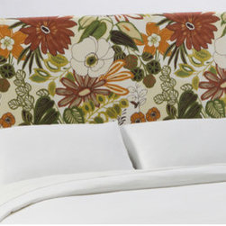 """Skyline Furniture - Slipcover Upholstered Headboard - This beautifully hand-crafted headboard adds style to any bedroom. The slipcover headboard is accented by its minimalist styling and design. With its pine wood frame and thick luxurious foam padding bedtime reading may last a little longer. Features: -Made in the USA.-Included hardware and instructions.-Upholstered in 100% cotton lilth marigold fabric.-Polyfoam padding, upholstered fabric, wood and metal construction.-Slip Cover collection.-Gloss Finish: No.-Frame Material: Pine wood.-Hardware Material: Steel.-Adjustable Height: Yes.-Wall Mounted: Yes.-Reversible: No.-Media Outlet Hole: No.-Built In Outlets: No.-Hardware Finish: Black metal.-Finished Back: No.-Distressed: No.-Hidden Storage: No.-Freestanding: No.-Frame Required: Yes.-Frame Included: No.-Drill Holes for Frame: Yes.-Frame Compatibility: Any standard bed frame.-Commercial Use: No.-Recycled Content: No.Specifications: -EPP Compliant: No.-CPSIA or CPSC Compliant: Yes.-CARB Compliant: Yes.-JPMA Certified: No.-ASTM Certified: No.-ISTA 3A Certified: Yes.-PEFC Certified: No.-General Conformity Certificate: Yes.-Green Guard Certified: No.Dimensions: -Overall Height - Top to Bottom (Size: California King): 51"""".-Overall Height - Top to Bottom (Size: Full): 51"""".-Overall Height - Top to Bottom (Size: King): 51"""".-Overall Height - Top to Bottom (Size: Queen): 51"""".-Overall Height - Top to Bottom (Size: Twin): 51"""".-Overall Product Weight (Size: California King): 40 lbs.-Overall Product Weight (Size: Full): 31 lbs.-Overall Product Weight (Size: King): 45 lbs.-Overall Product Weight (Size: Queen): 33 lbs.-Overall Product Weight (Size: Twin): 24 lbs.-Leg Height: 6"""".-Bottom of Headboard to Floor: 24"""".Assembly: -Assembly Required: Yes.-Tools Needed: Allen wrench, wrench.-Additional Parts Required: No.Warranty: -Product Warranty: 1 Year limited (Excludes fabric)."""