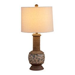 Bassett Mirror - Bassett Mirror Gulfstream Table Lamp L2662TEC - Bassett Mirror Gulfstream Table Lamp L2662TEC