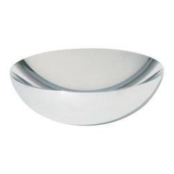 Alessi - Double Bowl by Alessi - The Alessi Double Bowl is a vessel that appears thick, yet remains light due to its hollow, specialty double-wall construction. Made out of highly polished stainless steel, the Double Bowl is ideal as a centerpiece, fruit bowl or even a candy dish. Designed by Donato d'Urbino and Paolo Lomazzi. Alessi, known as the Italian design factory, has manufactured household products since 1921. The stylish and fun items offered are the result of contemporary partnerships with some of the world's best designers of unique and modern home accessories.