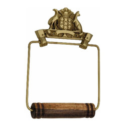 Renovators Supply - Toilet Paper Holder Brass Victorian Helping Hands Tissue Holder - Antique Toilet Tissue Holders: Beautifully ornate these reproduction tissue holders brighten up any bathroom. Made of 100% solid brass and polished & lacquered these tissue holders are tarnish-resistant for many years to come.