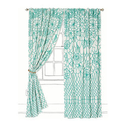 Soraya Curtain, - The raised embroidery on these curtains is gorgeous. They are so unique and would make a bold statement in the nursery.