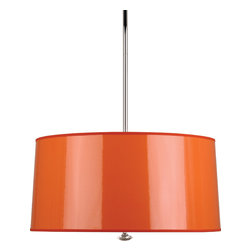 Robert Abbey - Penelope Pendant - Contrary to popular belief, you can have black lighting in your home without it making your teeth glow. This hanging pendant light features a black ceramic shade for focused light. The sleek and modern design adds an attitude of audaciousness and elegance at the same time.