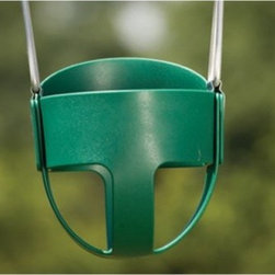 Kids Creations Green Baby Swing - Your little one will squeal with delight in the Kids Creations Green Baby Swing. This swing is sure to keep baby happy for hours. It is made of super durable plastic and has the bucket shape designed to keep your baby comfy and safely supported. This baby swing is for use with little ones 6 to 36-months and up to 60 pounds. It comes with a three-year manufacturer's warranty and is a great addition to a swing set.