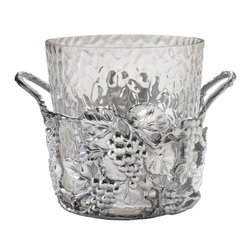 Arthur Court - Grape Champagne Bucket - This ice bucket wants an invitation to your next party. And wouldn't it look good right on the bar, wherever your bar is? Bring on the champagne!