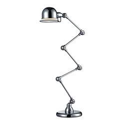 Dimond Lighting - Dimond Lighting HGTV260 HGTV Home Chrome Floor Lamp - Dimond Lighting HGTV260 HGTV Home Chrome Floor Lamp