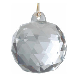 "Renovators Supply - Prisms Clear Crystal 1 3/4"" Prism Ball - Create a dazzling display with prisms that: Lend authentic Victorian elegance to light fixtures Offer limitless decorative possibilities"