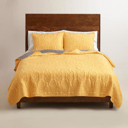 Marigold and Frost Gray Simone Bedding Collection -