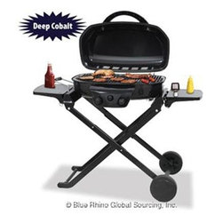 Blue Rhino - UF Portable LP Gas Grill - Blue Rhino /Uniflame Portable LP Gas Grill - 16 Burger Capacity (294 sq. in. Cooking Grid)  15000 BTUs. Cooking Heat.  Features include a Blue Porcelain Coated Hinged Lid  Foldable Cart and Locking Lid for Safe Portability  Porcelain-Coated Steel Cooking Grid and Push Button Ignition  This item cannot be shipped to APO/FPO addresses. Please accept our apologies.
