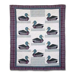 Patch Quilts - Ducks Twin Quilt - -Constructed of 100% Cotton  -Machine washable; gentle dry  -Made in India Patch Quilts - QTDUCK
