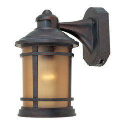 Designers Fountain - Designers Fountain Hanover Traditional Outdoor Wall Sconce X-PM-DM1732 - This Mission-style, Designers Fountain Hanover Traditional Outdoor Wall Sconce is a bold and handsome piece. It's a wonderful addition to your home, with its rich and warm Mediterranean patina finish and panels of sunlit copper glass. It will surely be a great way to decorate your space with added security as well as cast a welcoming glow of light.