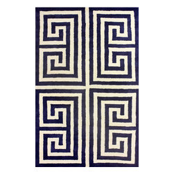 nuLOOM - 5'x8' Blue Hand Tufted Area Rug Greek Key - Made from the finest materials in the world and with the uttermost care, our rugs are a great addition to your home.