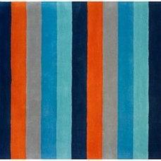 Bold Stripe Rug (Blue/Orange)