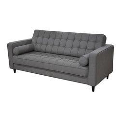 #N/A - Romano Sofa Light Grey - Romano Sofa Light Grey. Transitional style. Tufted back and seat