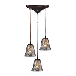 ELK Lighting - Three Light Oiled Bronze Multi Light Pendant - Three Light Oiled Bronze Multi Light Pendant
