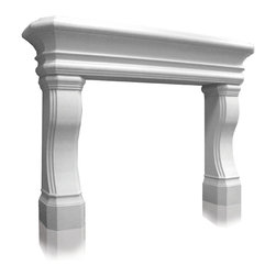 "Distinctive Mantel Designs - Carmel Mantel, Linen, 66"" - Taking inspiration from the California Contemporary style, the Carmel mantel is an elegant, transitional mantel.  A series of curves and half-rounds give the Carmel its flowing shape.  The Carmel mantel is an excellent choice for any transitional decor."