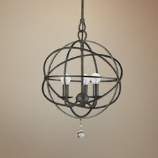"Crystorama Solaris English Bronze 12"" Wide Pendant Light 