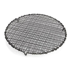 Wire Trivet-Cooling Rack - This rustic piece is handcrafted of iron wire with an antiqued finish and a decorative and functional double personality as serving trivet and cooling rack.