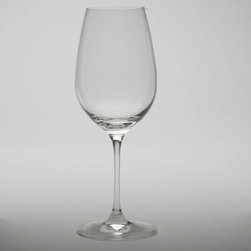 Tag Everyday - Bella White Wine Glass - Set of 4 - Includes 4 white wine glasses. Crafted in europe. 100% lead-free crystalline. Made from a single piece of glass. High clarity and brilliance. Shape correct for specific drink. Color: Clear. 8.75 in. H x 3.5 in. dia (14 oz. capacity)