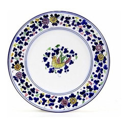Artistica - Hand Made in Italy - ARABESCO: Salad plate - ARABESCO Collection: The Arabesco evokes Italian country charm and is one of the most popular patterns created in Deruta - Italy.